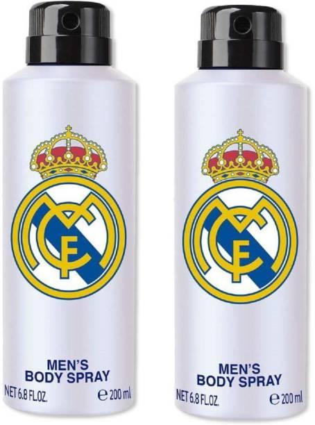 Real Madrid White Combo Pack Of 2 Deodorant Spray  -  For Men