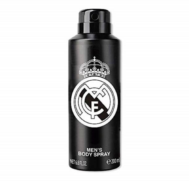 Real Madrid Original Black Deodorant Spray  -  For Men