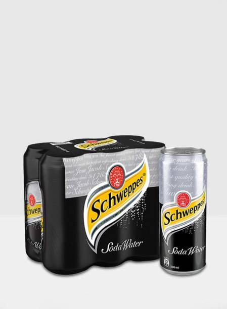 Schweppes Soda Water Pack of 6 Can