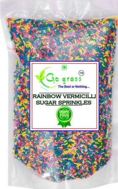GO GRASS Imported Decorative Rainbow Sugar Sprinkles for Cake Decoration / cupcakes / Sprinkles