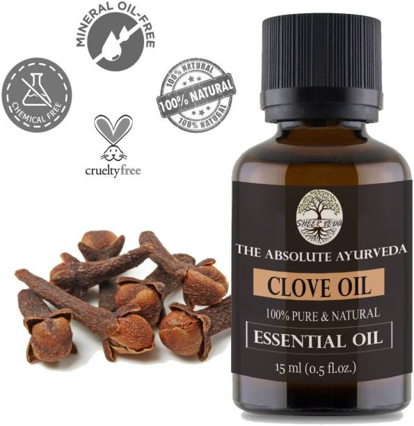 Sheer Veda Clove Essential Oil, 100% Pure, Natural and Undiluted for Skin, Hair and teeth.