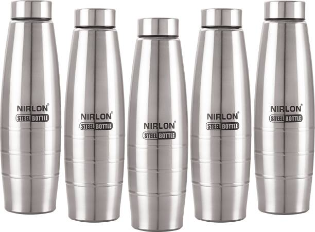 NIRLON Stainless Steel Water Bottle Set of 5 1000 ml Bottle