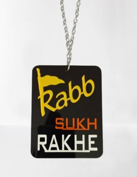 Ridivansh Creations Car Hanging (Rab Sukh Rakhe) Car Hanging Ornament
