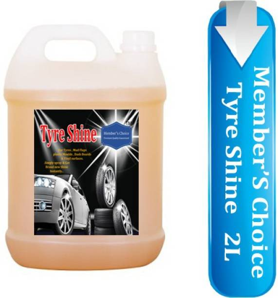 Members choice Tyre Shine Polish and Cleaner for Cleaning, Shining & Smoothness Useful for All Type of Vehicle Tyres like Car, Bike, Bus, Auto rickshaw etc. 2 L Wheel Tire Cleaner