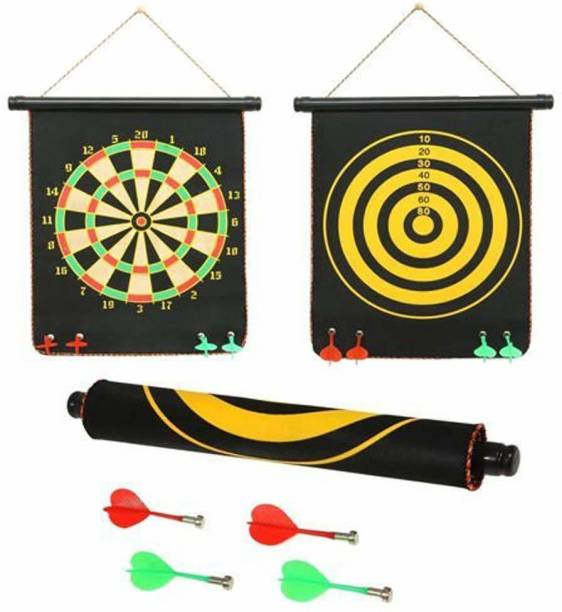 Velocious Magnetic Dart Game Double Faced Fordable With 4 Colorful non pointed Dart Convertible Tip Dart