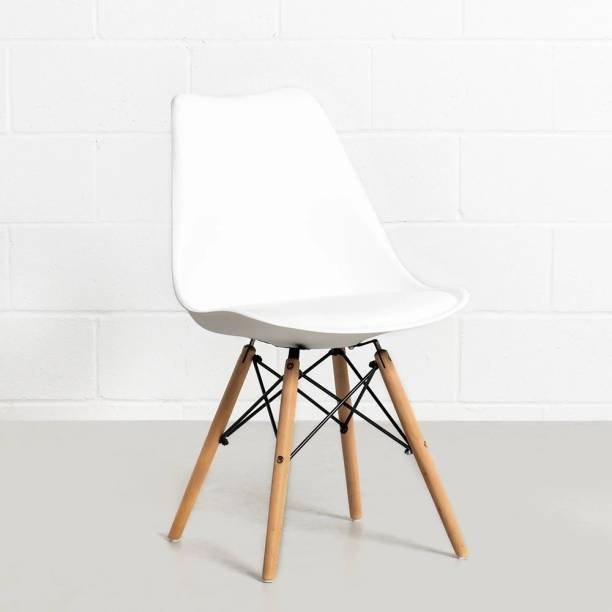 Deal Dhamaal Eames Replica Nordan Iconic Chair in White Colour Plastic Living Room Chair