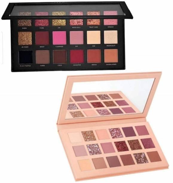 Lyffa Textured Eye shadow & Nude Colours Eyeshadow Palette 36 ml