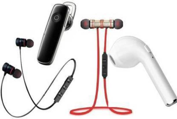 FIER FGN MAGNET RED & BLACK-K1-I7 Pack of 4 Bluetooth Headset . Bluetooth Headset