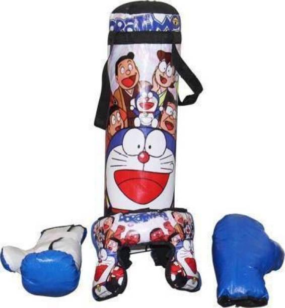 RCND Boxing Kit (Punching Bag, Gloves and Headgear) Banana Bag Hanging Bag