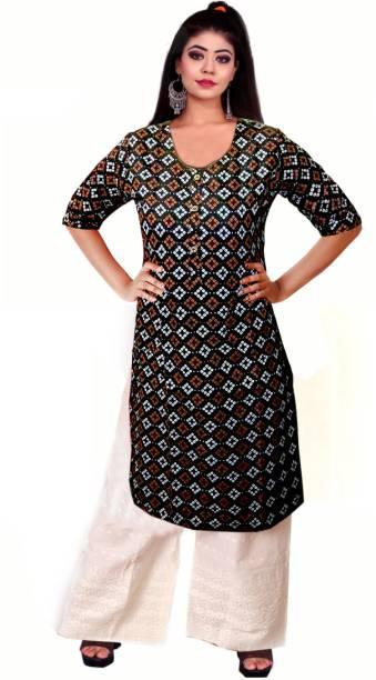 kshmya Women Printed Straight Kurta