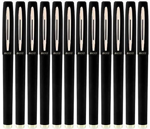 Baoke GEL PEN BLACK 1.OMM PACK OF 12 Gel Pen