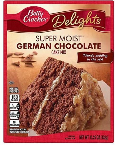 General Mills Betty Crocker Super Moist German Chocolate Cake mix , 432g 432 g