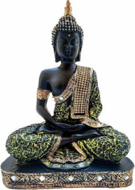 Dinine Craft Meditating Buddha Decorative Showpiece  -  23 cm