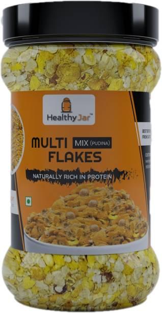 healthy jar Multi Flakes Mix namkeen pack of 1 (300g)