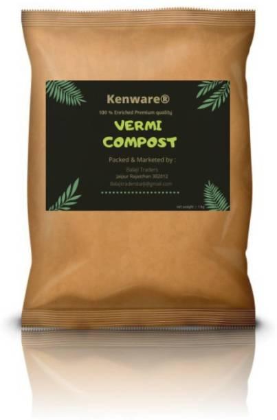 Kenware Premium Quality Organic Vermi compost Fertilizer Manure for Plants Fertilizer
