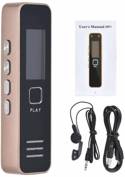 OJXTZF Mini HD Digital Voice Recorder Upto 64GB Memory Supportable (not Included) Professional Audio Recorder MP3 Player TF Card Dictaphone Record Microphone Sound Recording - Gold & Black-VTTR66 8 GB Voice Recorder