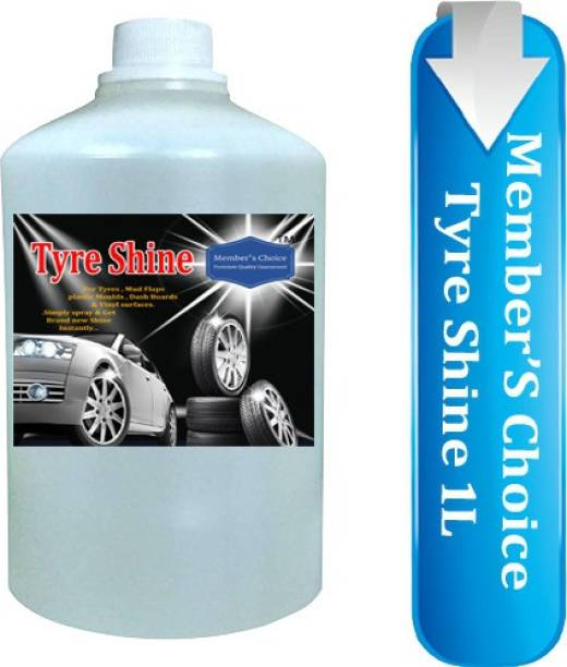 Members choice Tyre Shine Polish and Cleaner for Cleaning, Shining & Smoothness Useful for All Type of Vehicle Tyres like Car, Bike, Bus, Auto rickshaw etc. 1 L Wheel Tire Cleaner