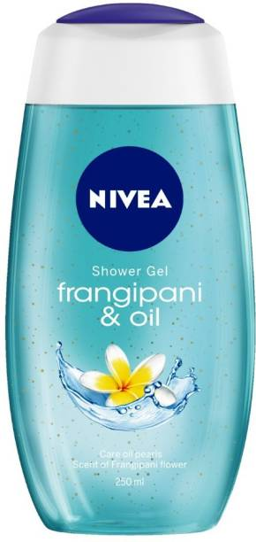 NIVEA Body Wash, Frangipani & Oil Shower Gel, Pampering Care with Refreshing Scent of Frangipani Flower