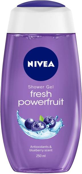 NIVEA Body Wash, Fresh Powerfruit Shower Gel, with Antioxidants & Blueberry Scent