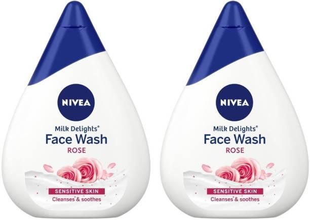 NIVEA Milk Delights Face Wash Caring Rosewater For Sensitive Skin 100ml