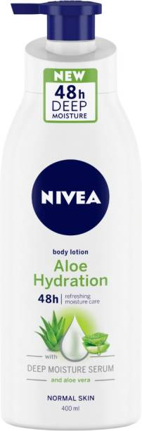 NIVEA Body Lotion, Aloe Hydration, with Aloe Vera, for Men & Women