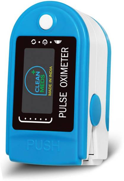 CLEAN MEDS Finger Tip Oximeter Digital Pulse Reader with Color Display - Water Resistant Pulse Oximeter Pulse Oximeter