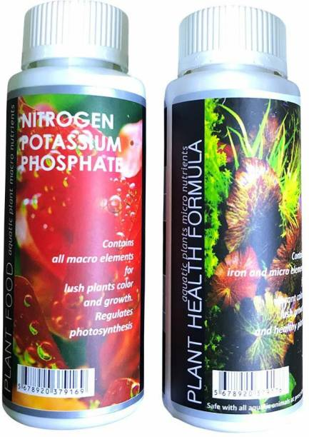 AQUATIC REMEDIES Plant Health Formula & Plant Food Fertilizer Combo (2x120 ml) Aquatic Plant Fertilizer