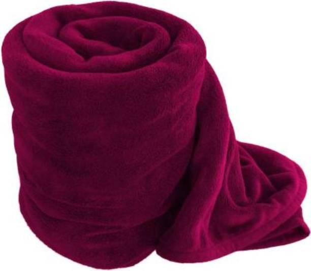 Supreme Home Collective Solid Single Fleece Blanket