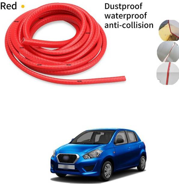 PRTEK Car Door Edge Guards Strip U Shape Flexible Car Door Protector Rubber Anti-Collision Rubber Trim Seal Lining Protect from Chips,Scratches Fits for Most Universal Vehicle(Red 16Ft) A49 Car Beading Roll For Window, Bumper, Door