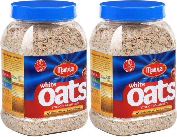 Manna Oats | Gluten Free Steel Cut Rolled Oats , High in Fibre & Protein, 100% Natural, Helps Maintain Cholesterol. Good for Diabetics