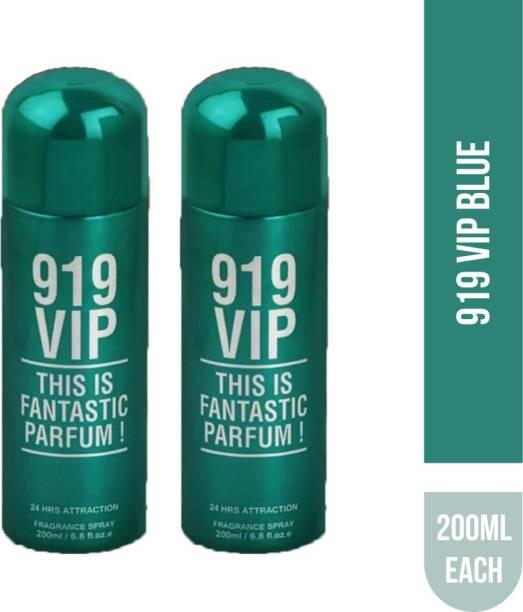 Ramco VIP 919 Blue Deodorant Body Spray 200ML Each (Pack of 2) Deodorant Spray  -  For Men & Women