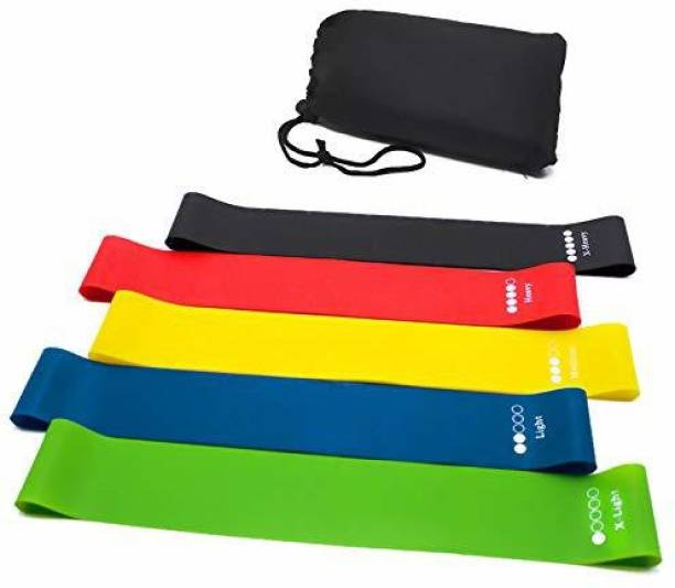 SPRUGAL Resistance/Exercise/Yoga Training Workout for Men and Women - Set of 5 Bands Resistance Band