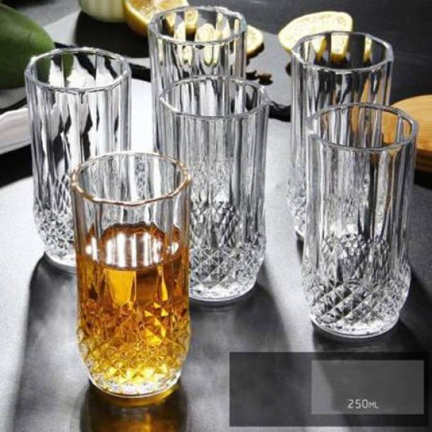 Nogaiya (Pack of 6) Multi Purpose Beverage Tumbler Drinking Glass Set For Home & WATER GLASS Use ( Set Of 6) freain10 Glass