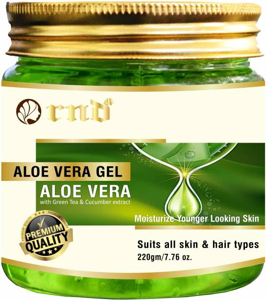 RND Pure Natural Aloe Vera Gel ( 220GM ) - Ideal for Skin Care, Face, Acne Scars, Hair Treatment