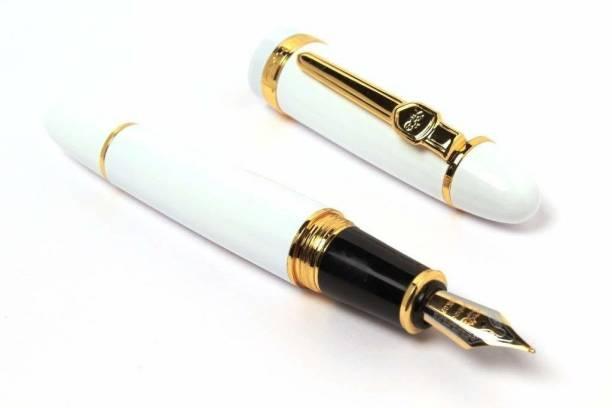 JINHAO Unique 159 White Gold Trim Midium Nib Fountain Pen Fountain Pen