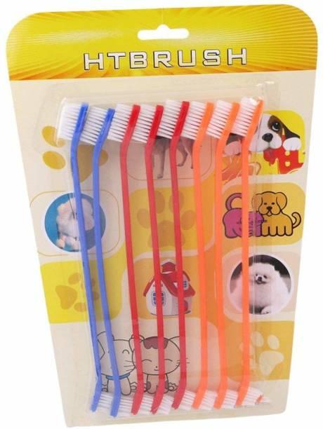 Pet Needs Pet Dog/Cat's Double Headed Toothbrush Pet Toothbrush