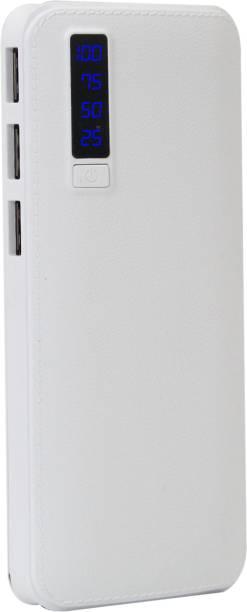 (Refurbished) senerathe 33000 mAh Power Bank (AJ Leather White3, Aj Leather)