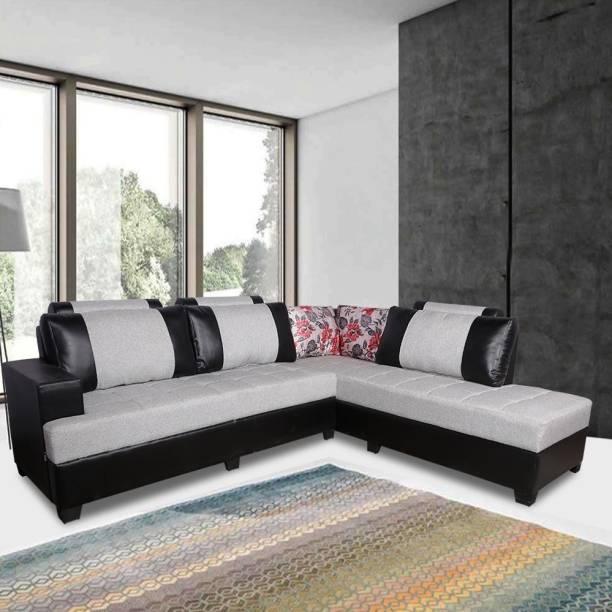 ELTOP Lifestyle Corner L-Shape RHS Fabric 6 Seater  Sofa
