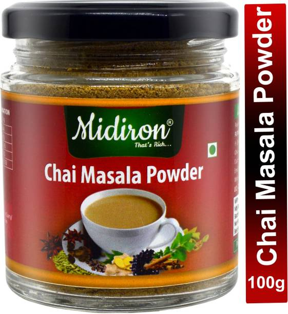 Midiron Nidiron Chai Masala - Aromatic Tea Masala Powder with 100% Natural Ingredients , Immunity Booster , Helps in Cold & Cough - 100g