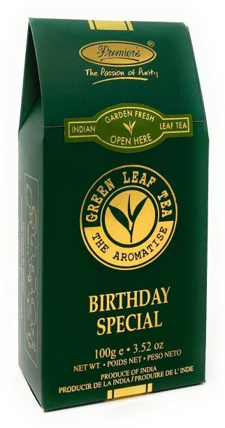 Premiers Birthday Special | 50 Cups | 100 Grams | PB-2 Green Board Standy Pack Green Tea Pouch