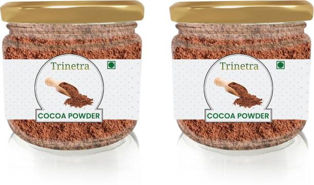 Trinetra Best Quality Cocoa Powder (Glass Jar Pack)-100gm (Pack Of 2) Cocoa Powder