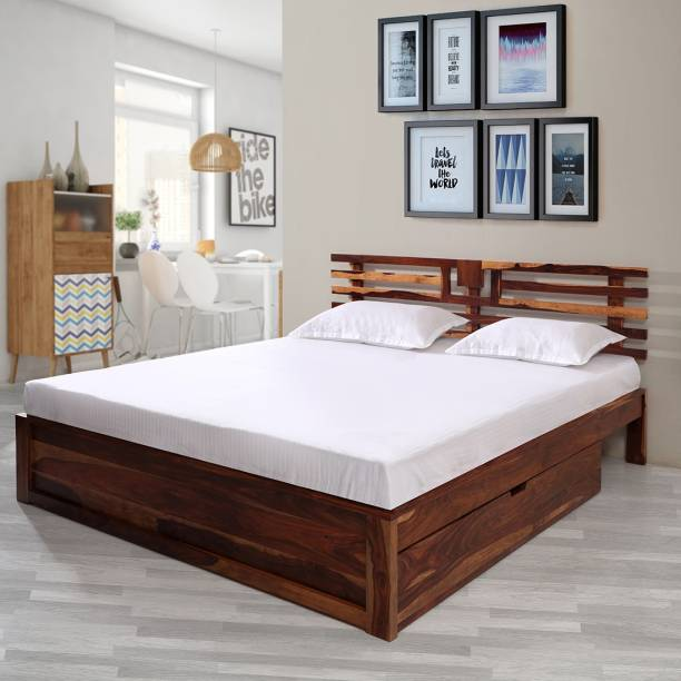 EVOK Franco Solid Wood Queen Drawer Bed