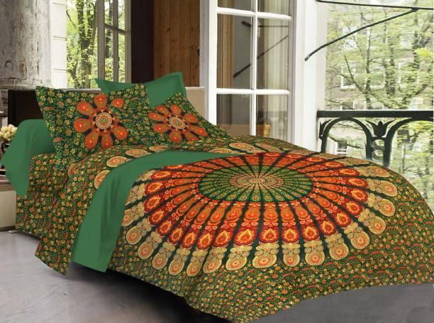 ABHISHEK FASHION 280 TC Cotton King, Double Printed Bedsheet