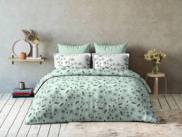 DDECOR Live beautiful 144 TC Cotton Double Floral Bedsheet