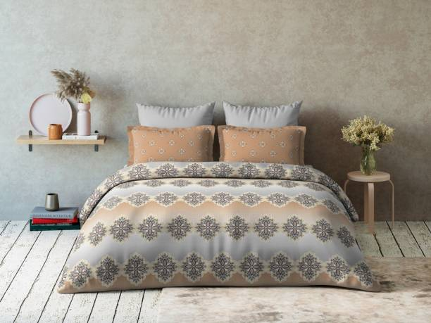 DDECOR Live beautiful 144 TC Cotton Double Self Design Bedsheet