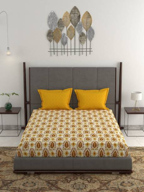 TRIDENT 144 TC Cotton Double Printed Bedsheet