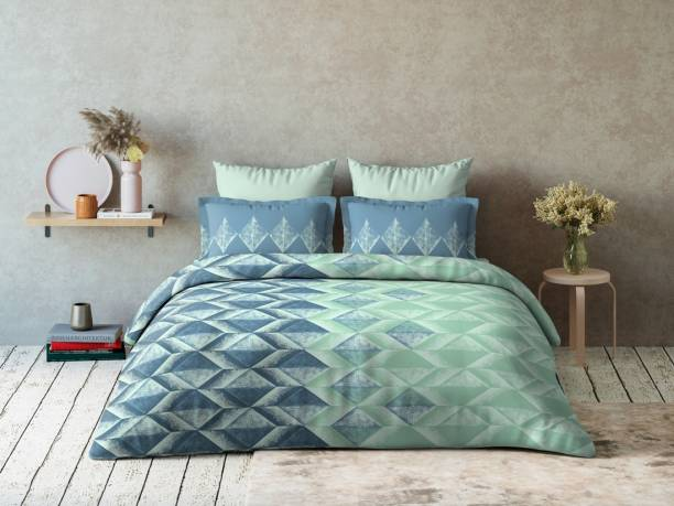 DDECOR Live beautiful 144 TC Cotton Double Abstract Bedsheet