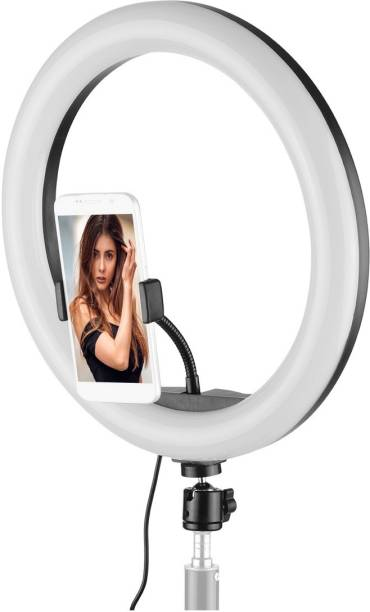 subton Photography Ring Light with 3 Brightness Level for Photo-Video Shooting Bridal MakeUp Parlour YouTube & Compatible with iPhone/Android Phones/Cameras with OTG adapter Flash Light 5600 lx Camera LED Light
