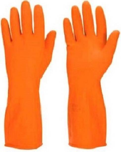 Bubbly Care Product Orange Soft Rubber Full Hand Dotted Finger Cleaning Hand Safety Gloves 1 Pair Combo Set Clean Glove House Clean Gloves Kitchen Dish Washing Reusable Washable Latex GlovesHouse Cleaning Glove,Paint Gloves,Pet Grooming Gloves,Washroom Cleaning Gloves,Toilet Chopping Gloves,Food Services Gloves,Cloth Washing Dishwash Glove,Gardening ShoulderGloves, Pet HandlingGloves,Hair Color Apply Gloves,Fancy Casual Designer Soft Hand Safety Gloves Waterproof Reusable Gloves Wet and Dry Glove