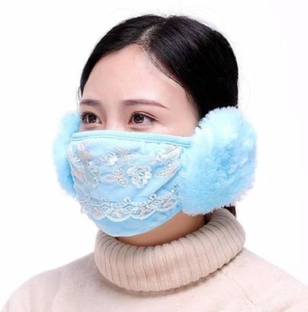 New Vastra Lok Mask + Ear Muff Sky Blue Color Ear Muff